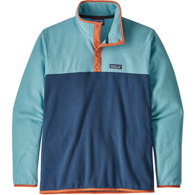 Patagonia Micro D Snap-T Pullover Herren stone blue with dam blue